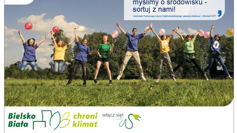 młodzież zaangażowana w ochronę klimatu