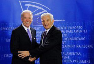 Jerzy Buzek i Joe Biden