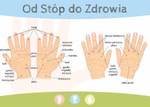 Mapa dłoni. Grafikę wykonał Paweł Fober