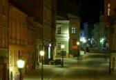Ulica Głęboka nocą fot. Marek Śmierciak